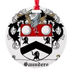 Saunders (Wexford)-Irish-9.jpg Round Ornament
