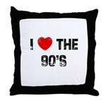 I * the 90's Throw Pillow