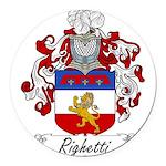 Righetti_Italian.jpg Round Car Magnet