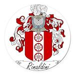 Rinaldini_Italian.jpg Round Car Magnet