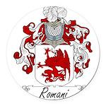 Romani_Italian.jpg Round Car Magnet