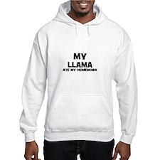 My Llama Ate My Homework Hoodie
