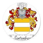 Santandrea_Italian.jpg Round Car Magnet