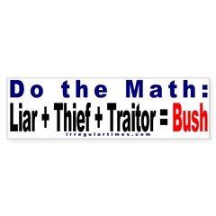 Do the Math Bumper Bumper Sticker