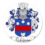 Schiavoni_Italian.jpg Round Car Magnet