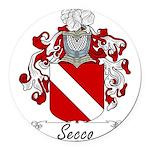 Secco_Italian.jpg Round Car Magnet