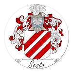 Sesto_Italian.jpg Round Car Magnet