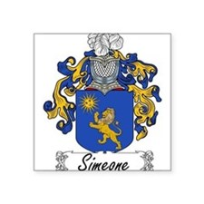 "Simeone_Italian.jpg Square Sticker 3"" x 3"""
