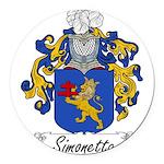 Simonetta_Italian.jpg Round Car Magnet