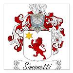 Simonetti_Italian.jpg Square Car Magnet 3