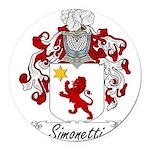 Simonetti_Italian.jpg Round Car Magnet