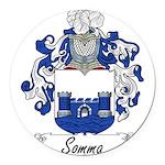 Somma_Italian.jpg Round Car Magnet
