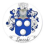 Specchi_Italian.jpg Round Car Magnet