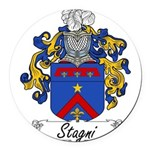 Stagni_Italian.jpg Round Car Magnet