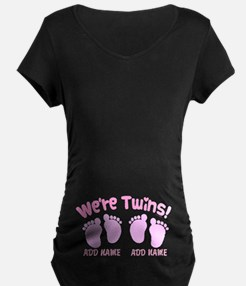 We're Twin Girls T-Shirt