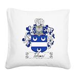 Tolomei Family Crest Square Canvas Pillow