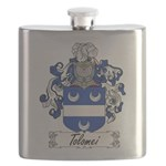 Tolomei Family Crest Flask