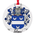 Tolomei Family Crest Round Ornament