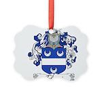 Tolomei Family Crest Picture Ornament
