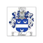 Tolomei Family Crest Square Sticker 3