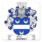Tolomei Family Crest Square Car Magnet 3