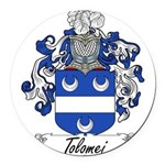 Tolomei Family Crest Round Car Magnet