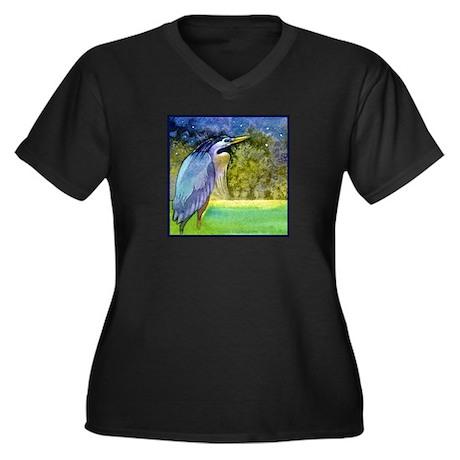 Beautiful Blue Heron Plus Size T-Shirt