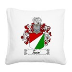 Tonini Coat of Arms Square Canvas Pillow