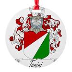 Tonini Coat of Arms Round Ornament
