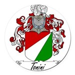 Tonini Coat of Arms Round Car Magnet