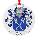 Tonti Coat of Arms Round Ornament