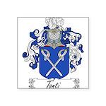Tonti Coat of Arms Square Sticker 3