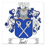 Tonti Coat of Arms Square Car Magnet 3