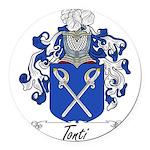 Tonti Coat of Arms Round Car Magnet