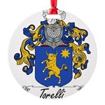 Torelli Coat of Arms Round Ornament