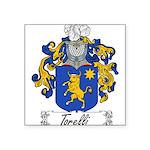 Torelli Coat of Arms Square Sticker 3
