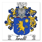 Torelli Coat of Arms Square Car Magnet 3