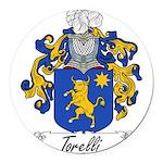 Torelli Coat of Arms Round Car Magnet