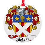 Walker Coat of Arms Round Ornament