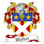 Walker Coat of Arms Square Car Magnet 3