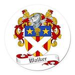 Walker Coat of Arms Round Car Magnet