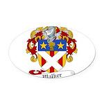 Walker Coat of Arms Oval Car Magnet