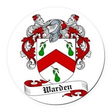 Warden Coat of Arms Round Car Magnet