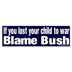 Lost Child Bush Bumper Bumper Sticker