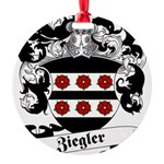 Ziegler Coat of Arms Round Ornament