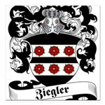 Ziegler Coat of Arms Square Car Magnet 3