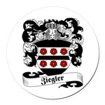Ziegler Coat of Arms Round Car Magnet