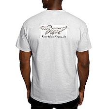 Alligator and Crocodile Ash Grey T-Shirt