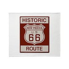 New Mexico Route 66 Throw Blanket