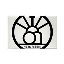 """HE IS RISEN!"" Rectangle Magnet"